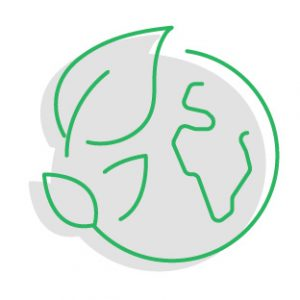 paper-free office makes for a green earth icon